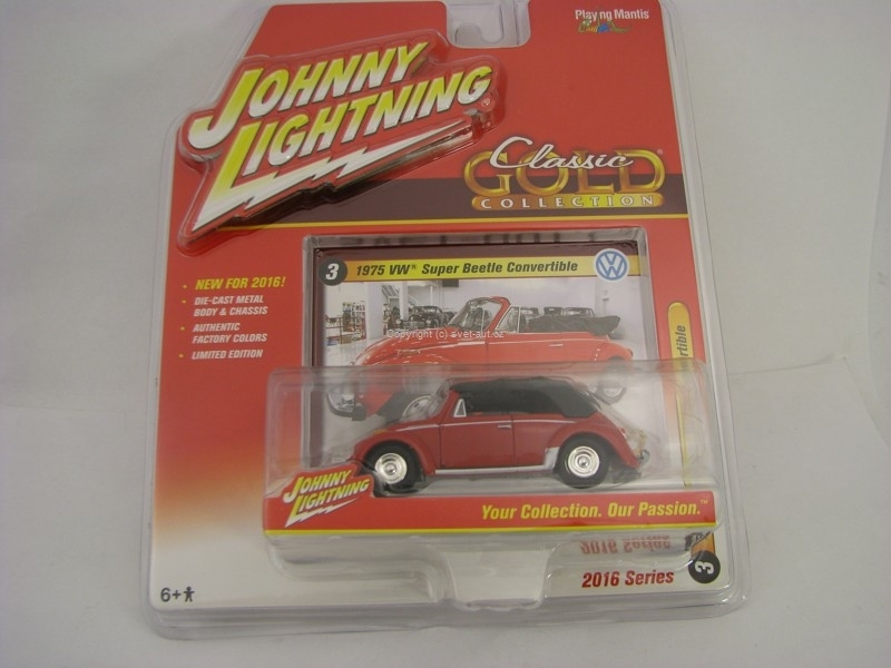 Volkswagen Super Beetle Convertible 1975 Johnny Lightning 2016
